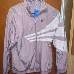 Adidas Stripe Lavender Track Jacket NWT